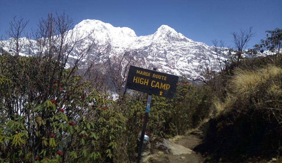 at high camp- mardi himal trek
